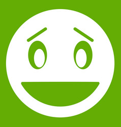 confused emoticon green vector image vector image