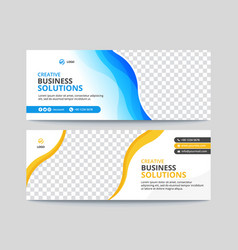 Corporate business facebook cover banner design vector