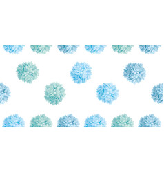 Cute pastel blue birthday party paper pom vector