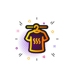 Dry t-shirt icon laundry shirt sign clothing vector