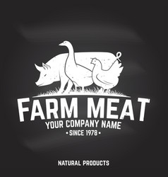 farm meat badge or label vector image