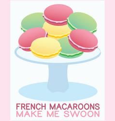 French Macaroons vector