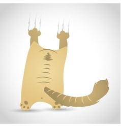Funny little cat vector
