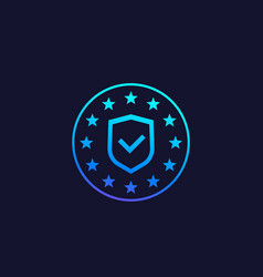 gdpr data protection icon vector image
