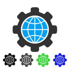 Global options flat icon vector