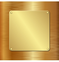 Golden plaque vector