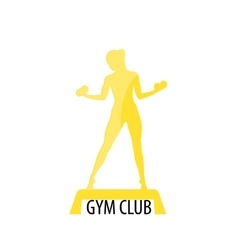 Gym club logotype Sport Fitness creative concept vector image