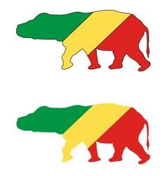 Hippo Congo vector image