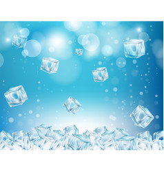 ice cube abstract background vector image