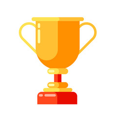 icon gold cup in flat style vector image