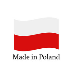 icon made in poland vector image