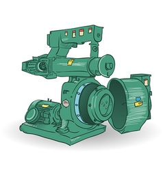 Industrial Machine vector image
