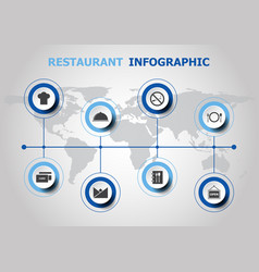 infographic design with restaurant icons vector image