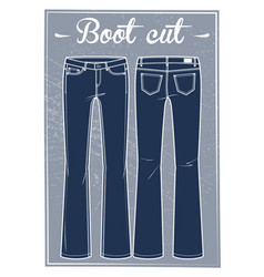 jeans boot cut fit vector image