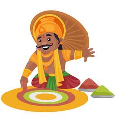 king mahabali cartoon vector image