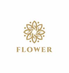 luxury flower logo design concept wedding logo vector image