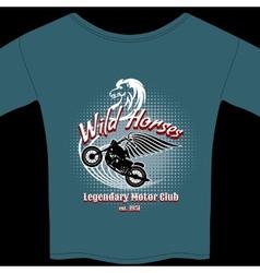 Motor Club t-shirt membership design vector image