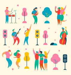 music fest set vector image
