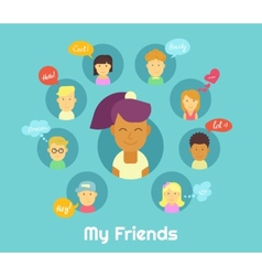 My friends vector image