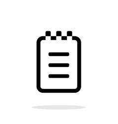 Notepad simple icon on white background vector image