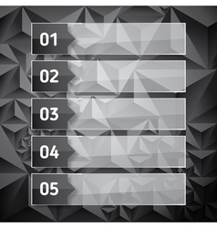Numbered list template with transparent glass vector image