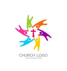 People united savior jesus vector