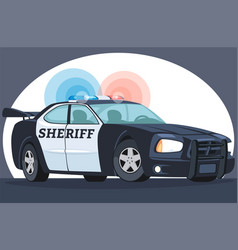 Police interceptor sheriff s car black and white vector