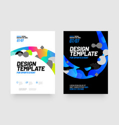 Poster template design for sports event sports vector