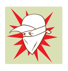 Protester s face symbol vector