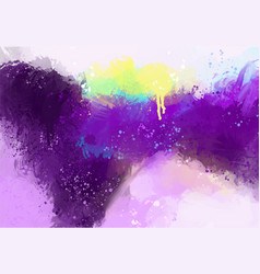 purple violet hand painted abstract background vector image