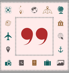 quote symbol icon elements for your design vector image