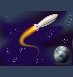 rocket into space vector image