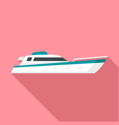 sea motor ship icon flat style vector image