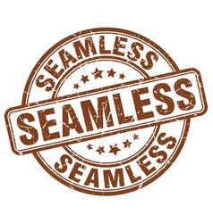 Seamless brown grunge stamp vector