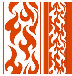 Seamless fire border vector