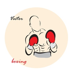 showing a Boxing vector image