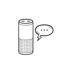 smart speaker hand drawn outline doodle icon vector image