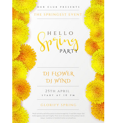 spring party poster with lettering lilac vector image
