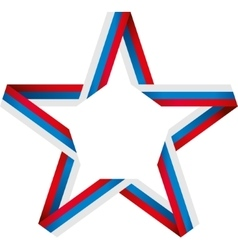 Star of color band vector image