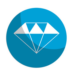 Sticker beautiful gem diamond to luxury use vector