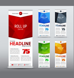template of vertical roll up banner of standard vector image
