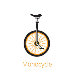 unicycle outline icon or logo bw template vector image