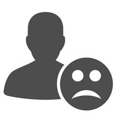 user sad smiley flat icon vector image