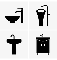 Washbasins vector image