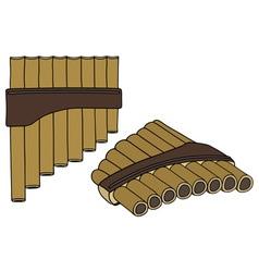 Wooden flute vector image