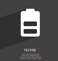 Battery half level Low electricity icon symbol vector image vector image