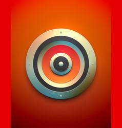 big red speaker vector image
