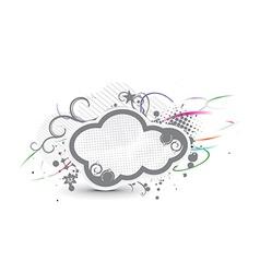 grunge cloud banner vector image