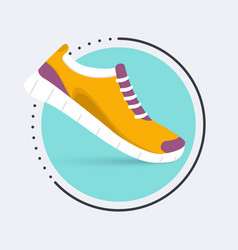Running shoes iconShoes for training sneaker vector image