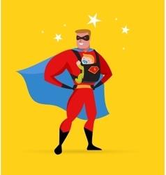 Superhero daddy superhero costume baby carrier vector image vector image